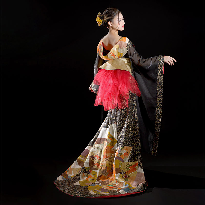 Morie TOKYOの着物リメイクドレス